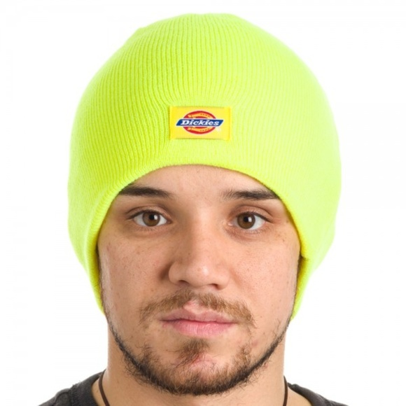 48a878b5826bb Dickies Safety Yellow Basic Knit Beanie Hat